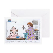 WineToons Greeting Card