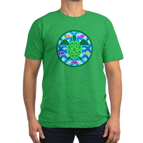 Green Sea Turtle Men's Fitted T-Shirt (dark)