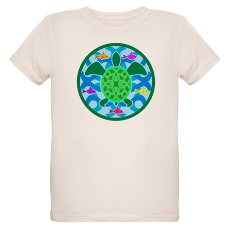 Green Sea Turtle Organic Kids T-Shirt