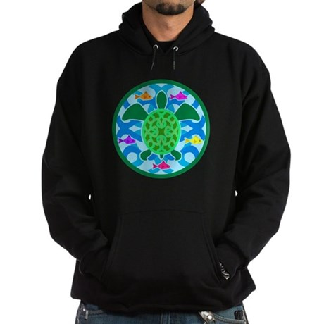 Green Sea Turtle Hoodie (dark)