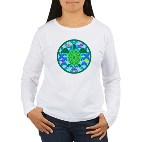 Green Sea Turtle Women's Long Sleeve T-Shirt
