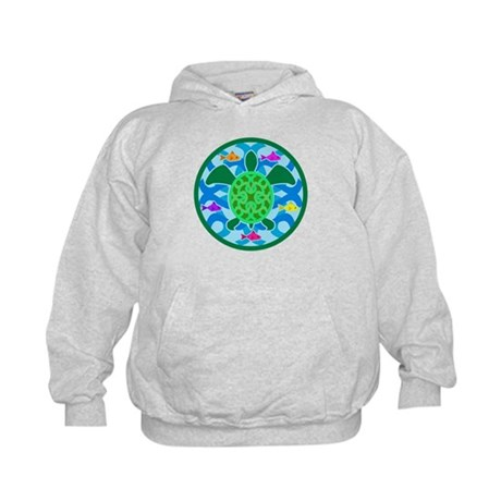 Green Sea Turtle Kids Hoodie