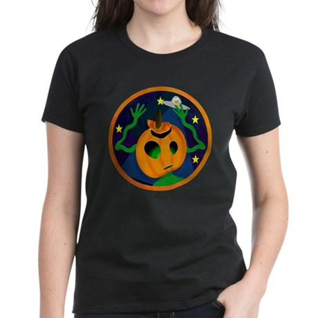 Alien Jack O Lantern Women's Dark T-Shirt