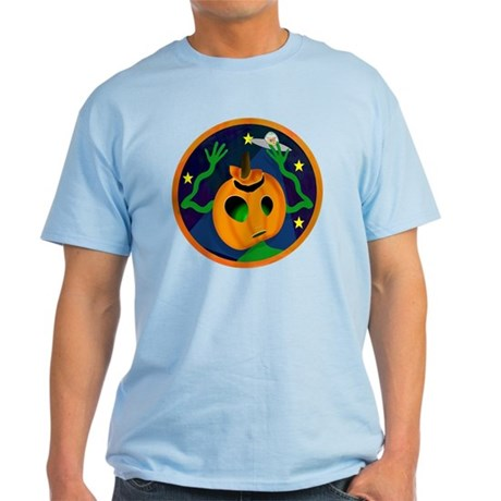 Alien Jack O Lantern Light T-Shirt