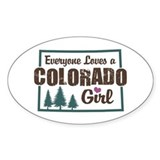 Colorado Girl Oval Decal