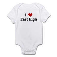 I Love East High Infant Bodysuit