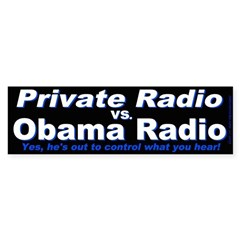 Private Radio (Bumper Sticker)