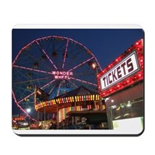 Wonder Wheel at Night Mousepad