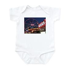 Wonder Wheel at Night Infant Bodysuit