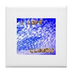 I Love Clouds Ceramic Tile Coaster / Trivet