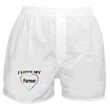 I Heart My Farmer Boxer Shorts