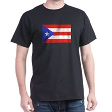 Puerto Rican flag Black T-Shirt