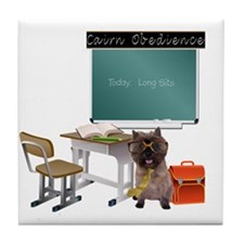 Cairn Terrier Obedience Tile Coaster