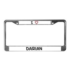 I love darian License Plate Frame