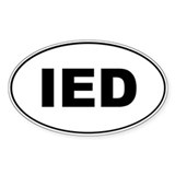 IED Oval Sticker (50 pk)