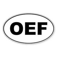 OEF Oval Sticker (10 pk)