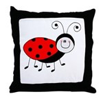 lil ladybug throw pillow