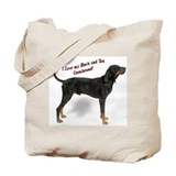 I Love my B&T Coonhound Tote Bag