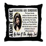 Ticket To Heaven Throw Pillow
