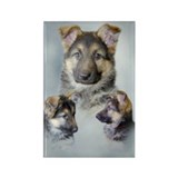 German Shepherd Puppies! Rectangle Magnet