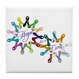 Hope For A Cure Tile Coaster