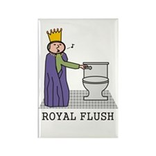 Royal Flush Rectangle Magnet
