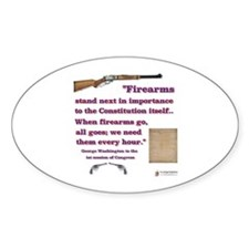 Firearms and the Constitution Oval Sticker (10 pk)