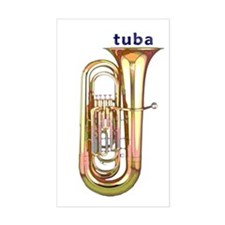 Tuba Sticker (Rect.)