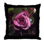 Castera Rose #1B photo drawing art - Throw Pillow