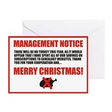 No Turkey Christmas Cards (Pk of 10)