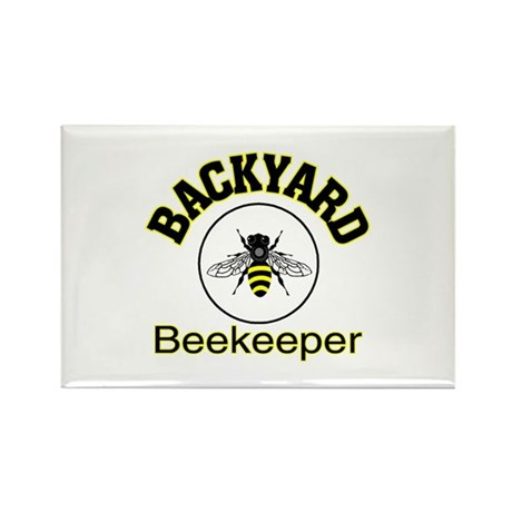 BACKYARD BEEKEEPER Rectangle Magnet (100 pack)