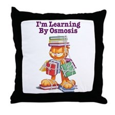 Garfield Learning by Osmosis Throw Pillow