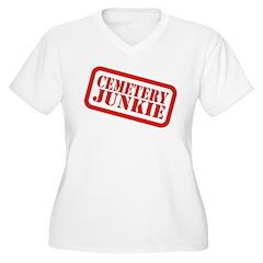 Cemetery Junkie Women's Plus Size V-Neck T-Shirt