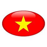 Viet Nam Oval Sticker (10 pk)