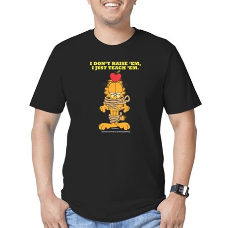 Teach 'em Garfield Men's Fitted T-Shirt (dark)