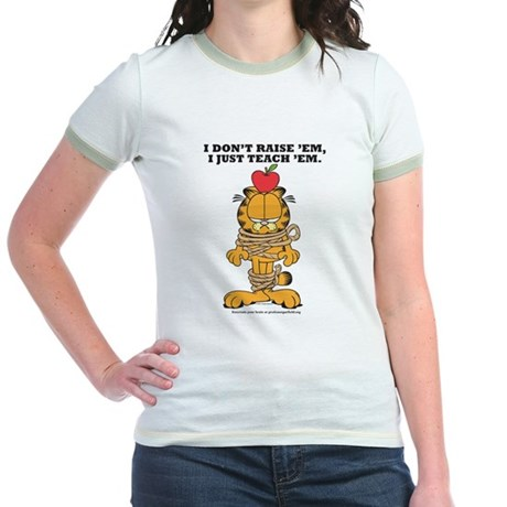 Teach 'em Garfield Jr. Ringer T-Shirt