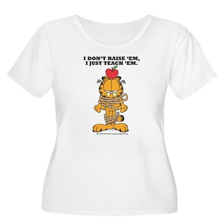 Teach 'em Garfield Women's Plus Size Scoop Neck T-