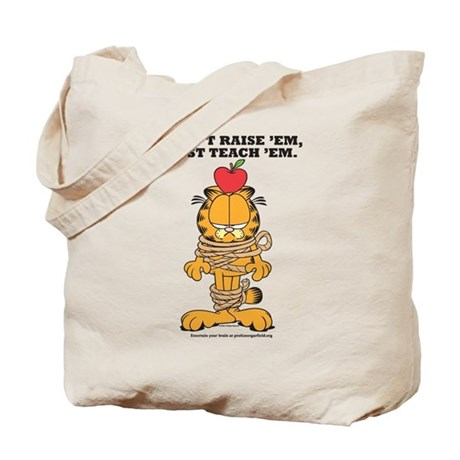 Teach 'em Garfield Tote Bag