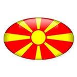 Macedonia Oval Sticker (10 pk)