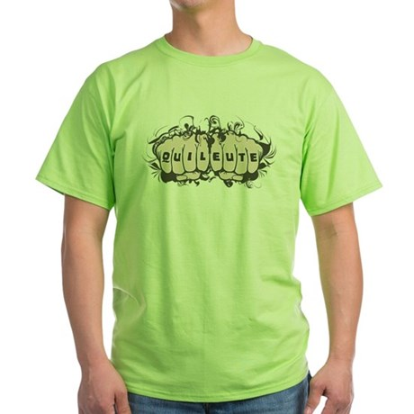 Quileute Tattoo Green T-Shirt