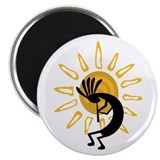 "Hopi Kokopelli Gold 2.25"" Magnet (100 pack)"