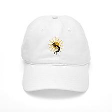 Hopi Kokopelli Gold Baseball Cap
