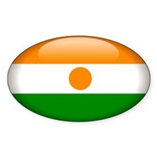 Niger Oval Sticker (50 pk)