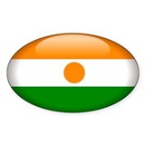 Niger Oval Sticker (10 pk)