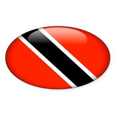 Trinidad and Tobago Oval Sticker (10 pk)