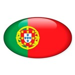 Portugal Oval Sticker (50 pk)