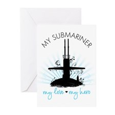 My Submariner My Love Greeting Cards (Pk of 20)