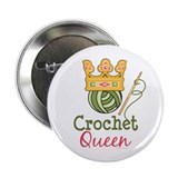"Crochet Queen 2.25"" Button"