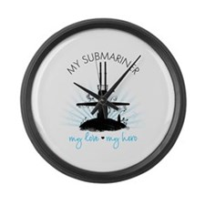 My Submariner My Love Large Wall Clock