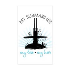My Submariner My Love Rectangle Decal